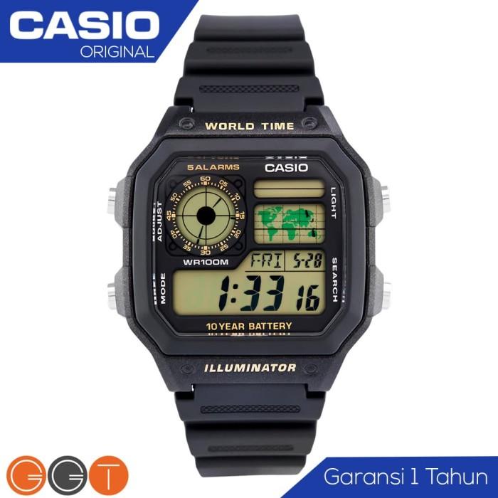 Jual CASIO Illuminator AE-1200WH-1AVDF Jam Tangan Original Digital ... d14e8a5c3b