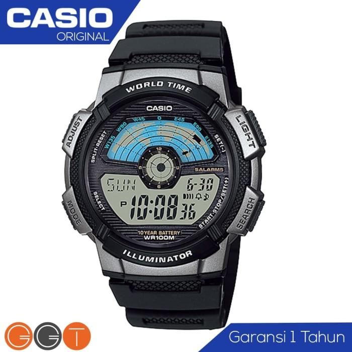 Jual CASIO Illuminator AE-1100W-1A Jam Tangan Pria Tali Resin ... 1a0852bf47