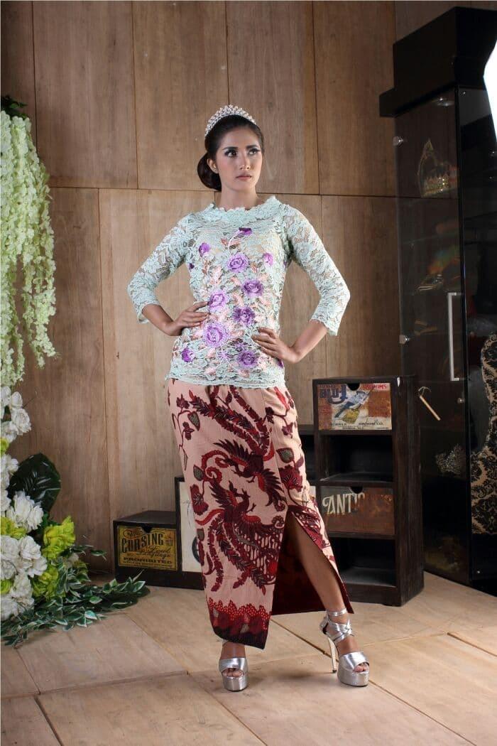 Jual Baju Pesta Wanita Kebaya Brokat Model Kebaya Modern Bunga Hijau Mint Kota Surakarta Sidomukti Baru Tokopedia