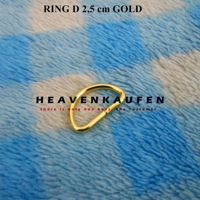 Ring D Gold Emas 2,5 cm Murah Eceran Grosir