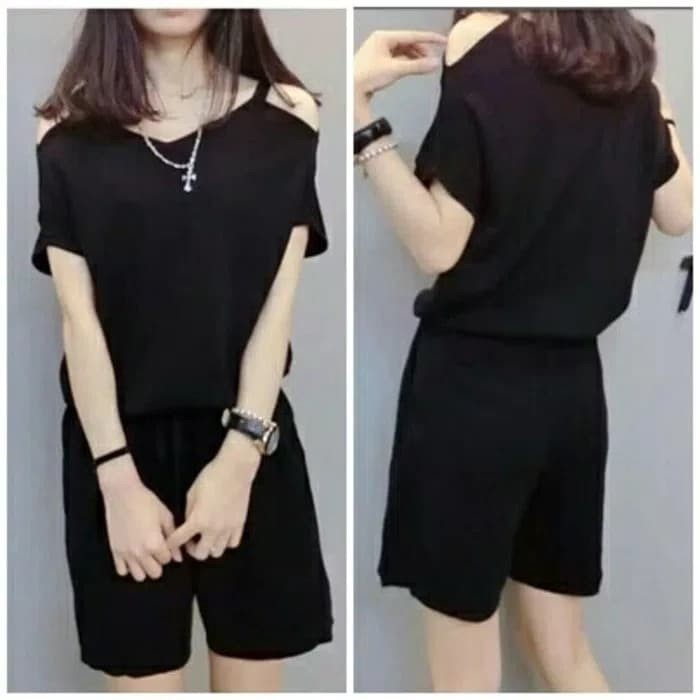 e1a2848f7ab dress wanita jumpsuit overall jumsuit maxy korea pants lucu maxi hitam