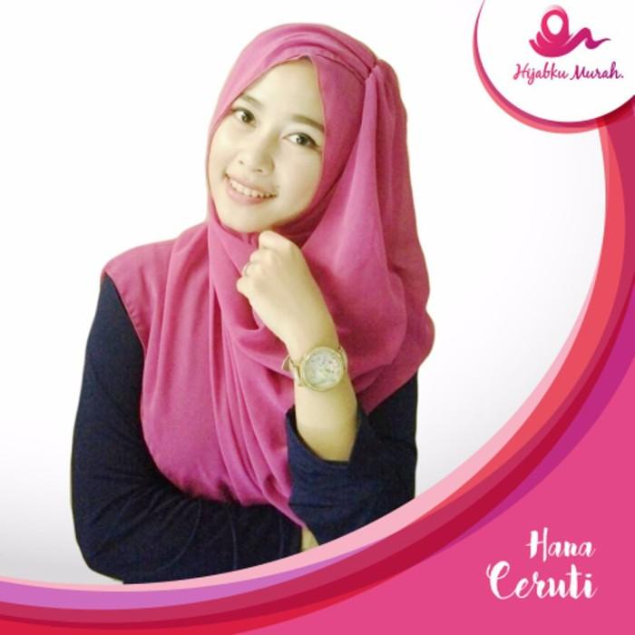 Termurah!! Hana Ceruti Kerudung Praktis Jilbab Instan Praktis