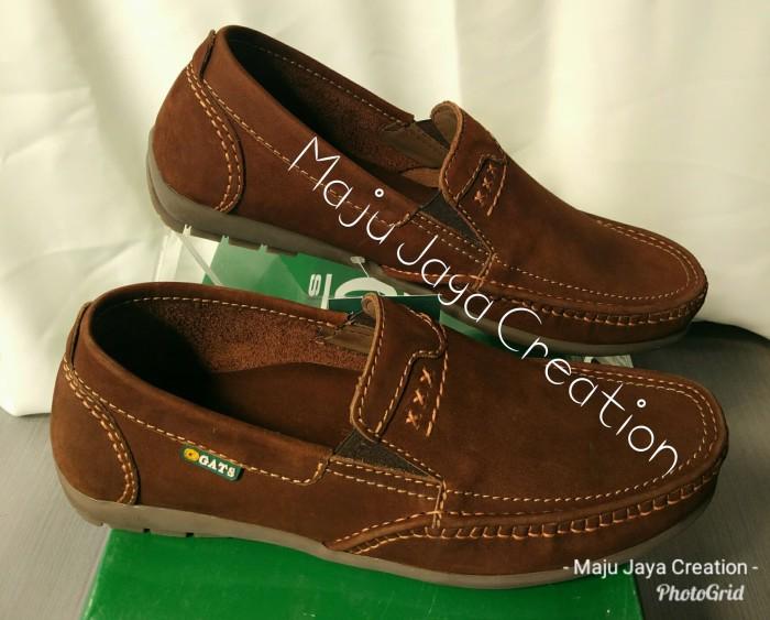 Sepatu GATS Kulit Casual Pria Keren Original Murah Bagus Hk 0002 Brown 7f2fb03f08