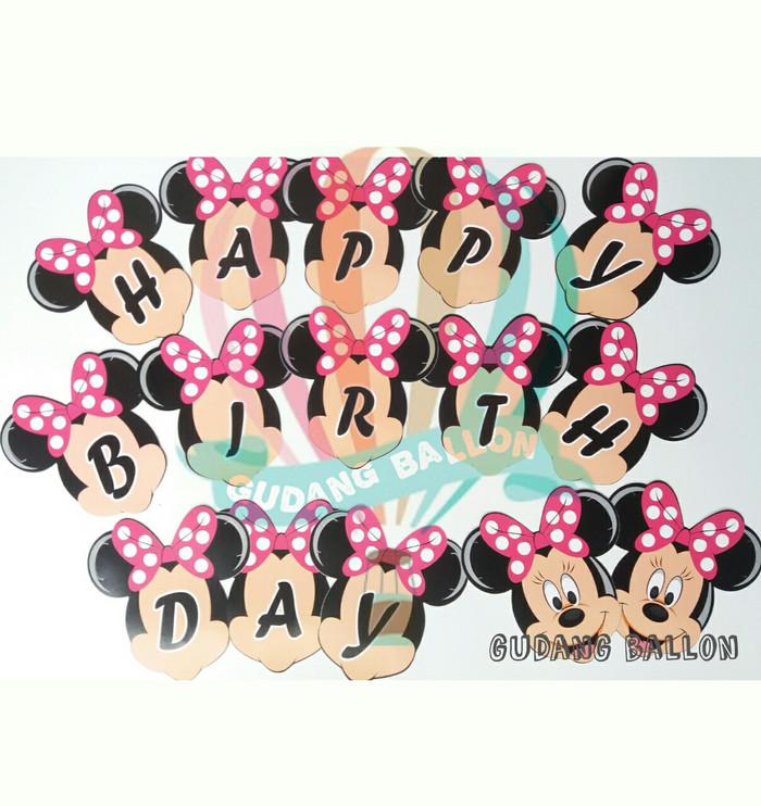 harga Banner mickey mouse / banner ulang tahun/ banner happy birthday mickey Tokopedia.com