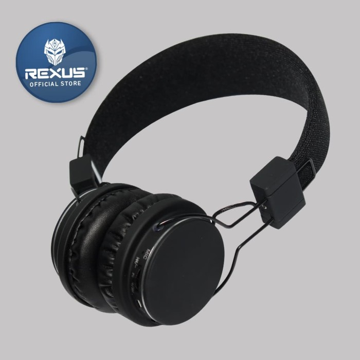 rexus headset bluetooth x1 - hitam