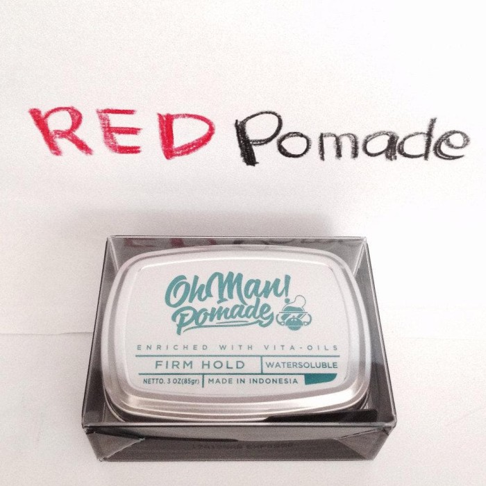 POMADE OH MAN OHMAN NUTRI BLUE DIVINE WATERBASED FIRM HOLD WATER BASED