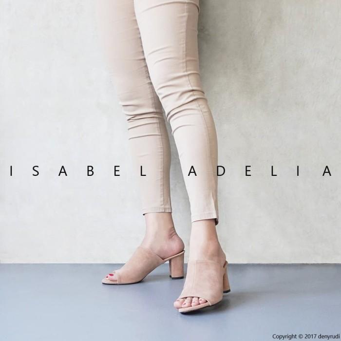 Isabel CHATY Sepatu Wanita Hak Tinggi Casual High Heel Sandals Hitam
