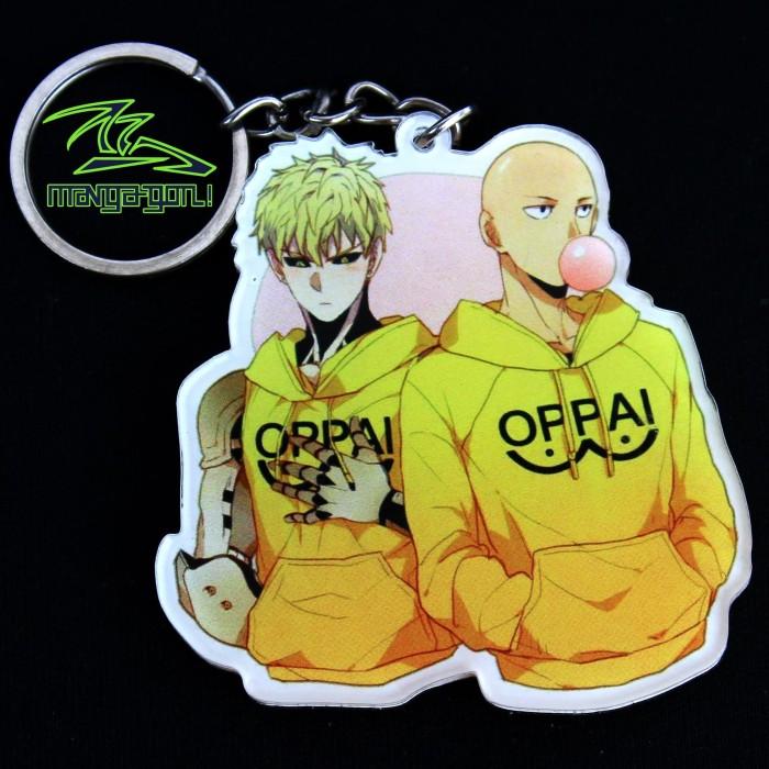 Jual Gantungan Kunci Anime Saitama Dan Genos One Punch Man Chibi Keychain Kota Bandung Manga Gon Tokopedia