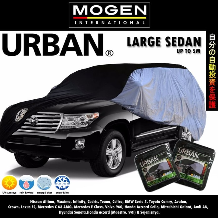 Body Cover / Sarung Mobil URBAN LARGE SEDAN / Mobil Putih Accord Camr