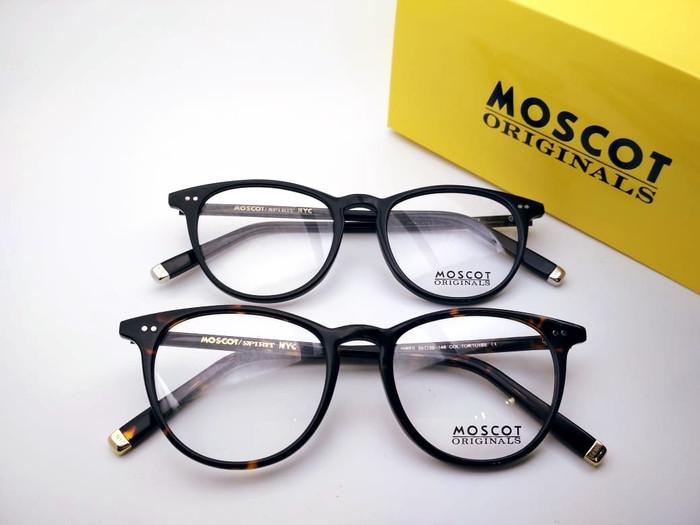 Kacamata frame Moscot jared kacamata fashion gratis lensa antiradiasi -  Cokelat Tua d31a8ecb76