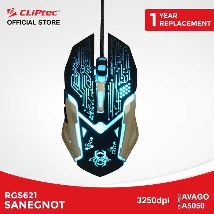 harga Cliptec rgs621 sanegnot | mouse gaming murah promo led 3250dpi - gold Tokopedia.com
