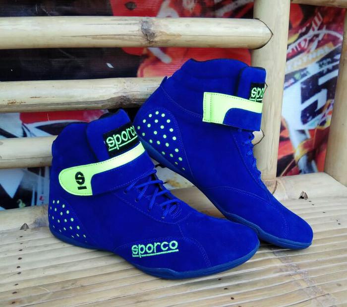 harga Sepatu balap drag bike race biru hijau stabilo baru murah istimewa Tokopedia.com