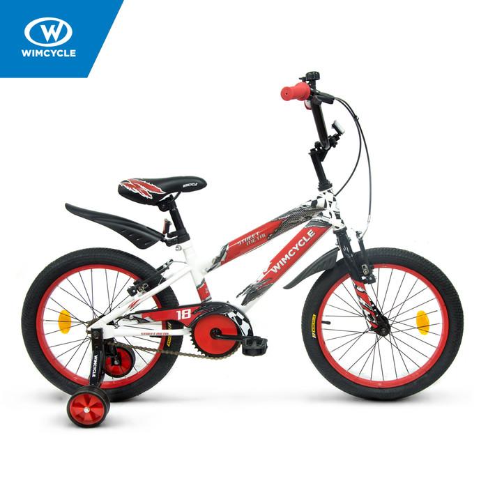 harga Sepeda wimcycle 18 inch bmx street metal white/red Tokopedia.com