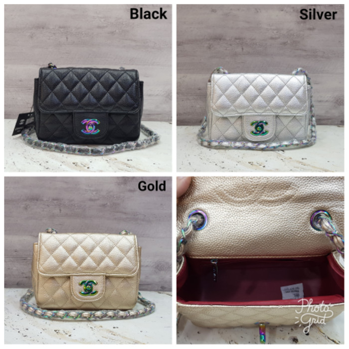 harga Chanel classic baby rainbow hw   tas selempang wanita mini   kecil  Tokopedia.com c680a0b8a2