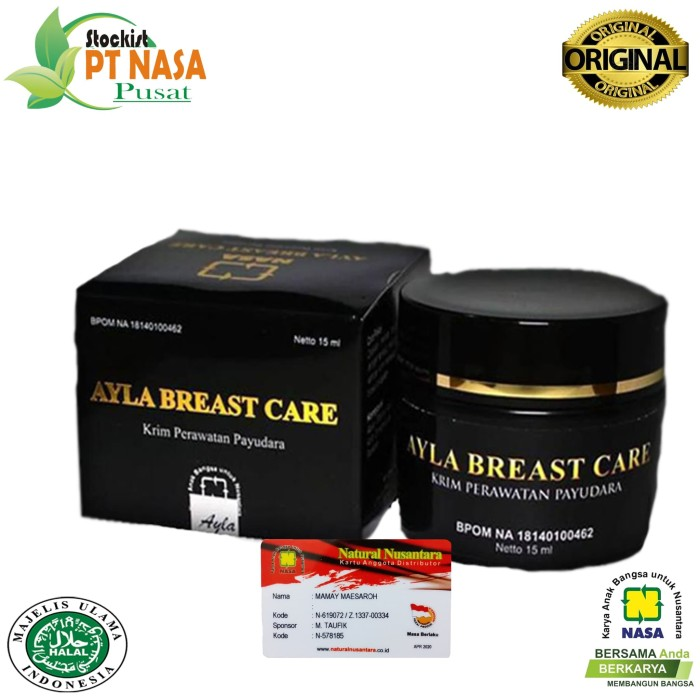 Ayla Breast Care Pembesar & Pengencang Payudara Nasa /Stockist PT Nasa
