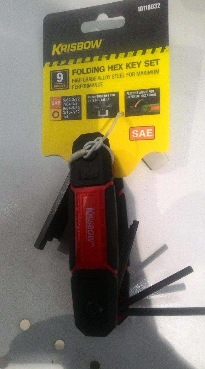 Harga Jual Krisbow Set Kunci L Hex 1 16 3 8 Inci 9 Pcs Rp 350000 Tipe Sae Folding Key