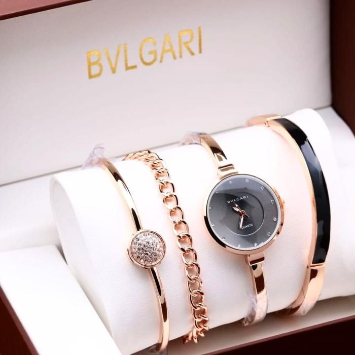 Jual Jam tangan Bvlgari paket gelang - arloji van java  5d3dd1607f