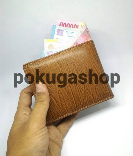 Jual Dompet Kulit Pria Serat Kayu Asli Garut Tan Unik  f3447c1747