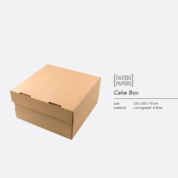 Foto Produk Cake Box - Kotak / Dus / Boks Kue Bolu (20 x 20 x 10 cm ) dari {Paperi Papero}