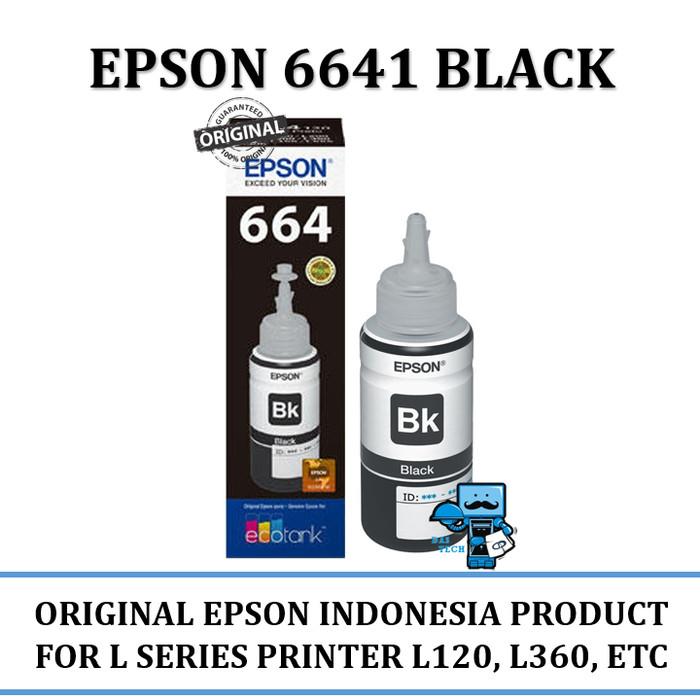 Tinta Epson L100 L210 Original Segel Dus Botol Black / Hitam Ink T6641