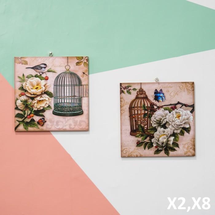 harga Hiasan dinding pajangan rumah vintage sangkar burung dedaunan - x2 x8 Tokopedia.com