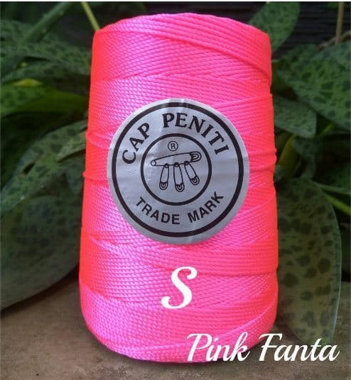 Jual Benang Rajut Nilon Cap Peniti Warna Pink Fanta Benang Rajut