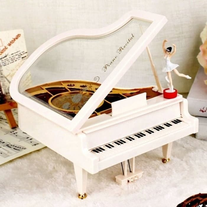 Kotak Musik Piano Music Box Ballerina Kado Romantis Valentine Ultah