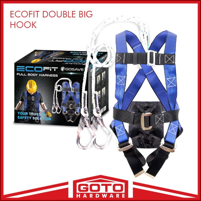 harga Full body harness double 2 big hook besar ecofit gosave safety belt Tokopedia.com