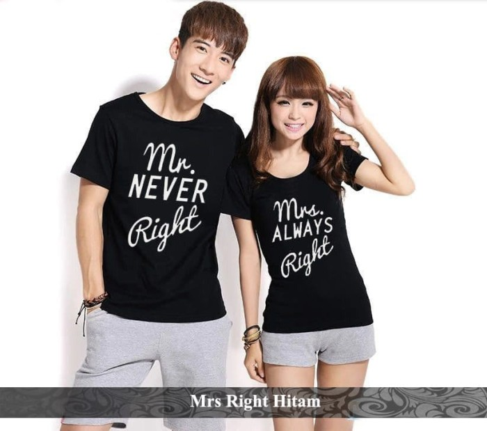 Foto Produk kaos couple termurah | kaos couple terlengkap | kaos mr. right couple dari koleksi baju couple