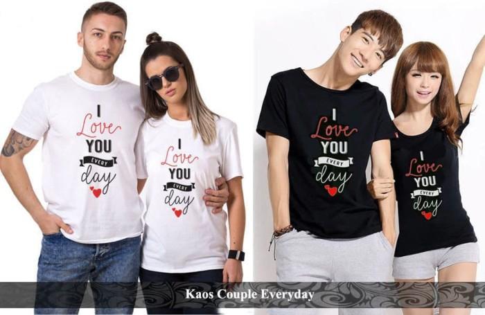 Foto Produk kaos couple | kaos pasangan | kaos katun | kaos everyday couple dari koleksi baju couple