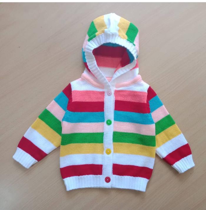 Jual Sweater Jaket Hoodie Garis Salur Anak 8867 - 6 - 12 Bulan 4156f231b1