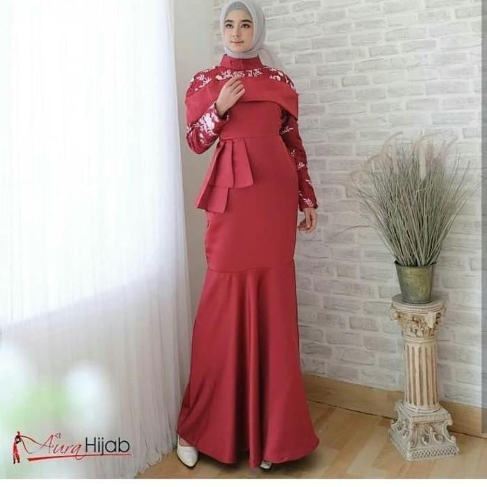 Jual Loona Dress Gamis Duyung Navy Kembarshop Online Tokopedia