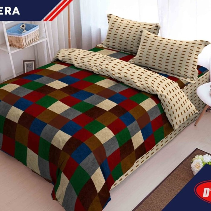 BED COVER SET KINTAKUN DLUXE KING 180 X 200 SIERA / BEDCOVER D'LUXE