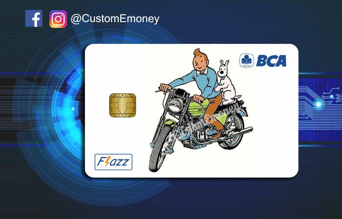 Jual kartu bca Flazz custom design e-toll tintin classic ...