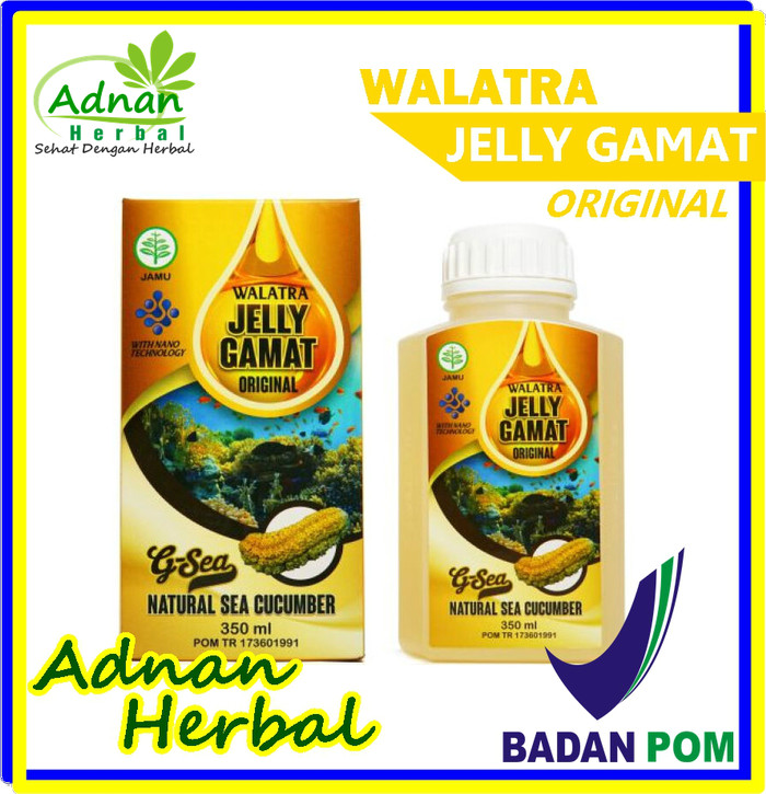 Foto Produk Walatra Jelly Gamat Original - 100% Herbal Alami Tanpa Efek Samping dari Adnan Herbal
