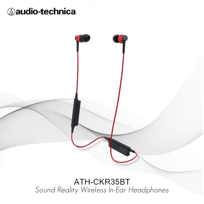 Audio Technica Ath - Ckr35bt Sound Reality Wireless - Merah - Blanja.com