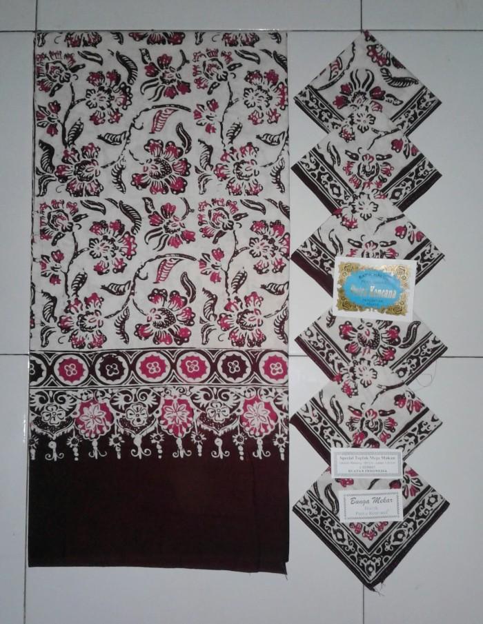 harga Taplak meja makan batik motif bunga mekar Tokopedia.com