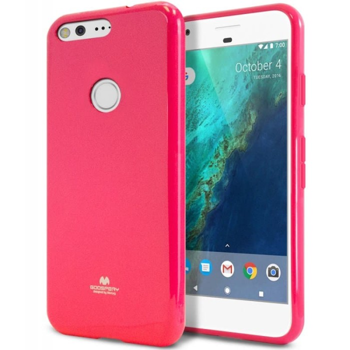 goospery oppo a71 pearl jelly case - hotpink