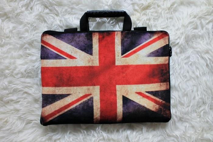 harga England flag 10  & 11-12  softcase tas laptop netbook bendera inggris Tokopedia.com