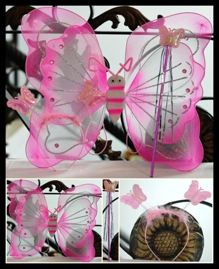 Foto Produk Kostum Mainan Anak Peri Sayap Kupu-Kupu Bando Tongkat Angel Karnaval dari Jenia Herbal. ID