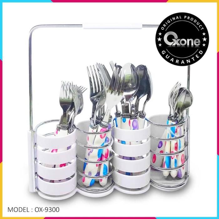 Sendok & garpu oxone ox-9300 24pcs buble cutlery set