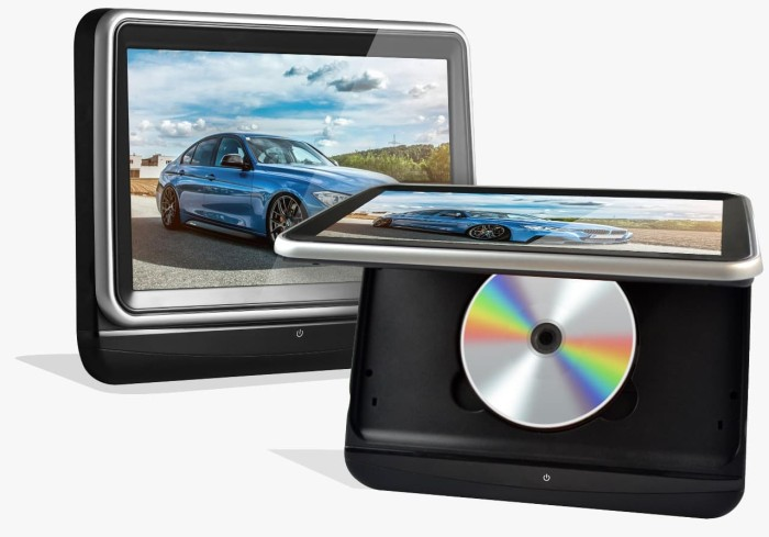 harga As 1058ht headrest clip on dvd monitor. 10 inc. mirror link. garansi. Tokopedia.com