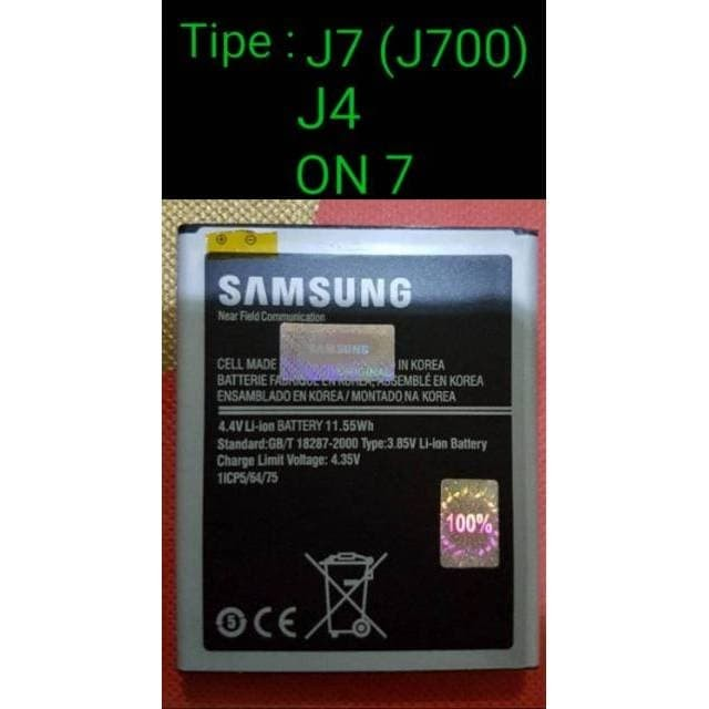 Foto Produk Baterai Samsung Galaxy J7 2015 J700 ON7 ORIGINAL Battery Batre Bat dari Cindy acc shop