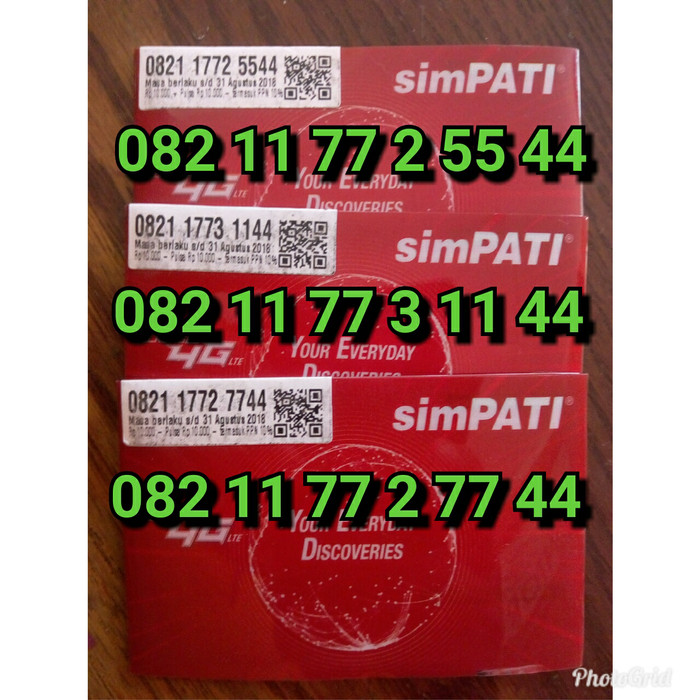... harga Nomor cantik nocan kartu perdana telkomsel simpati 4g lte pulsa 10rb Tokopedia.com