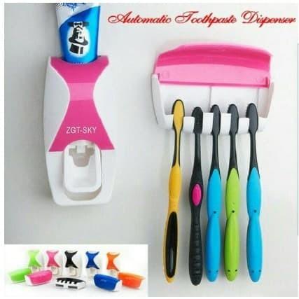 Dispenser Odol /Pasta Gigi Plus Tempat Sikat Gigi Toothpaste NEW MODEL