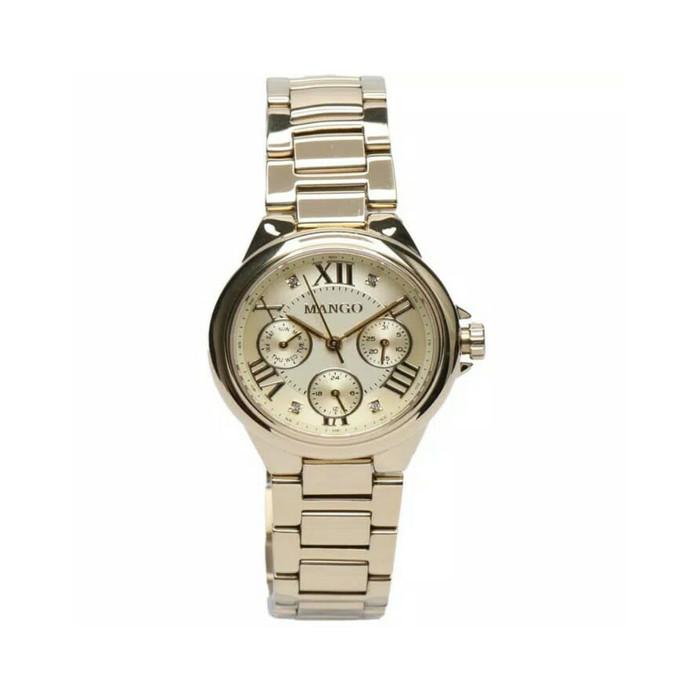 mango jam tangan wanita ma6686l-13k gold