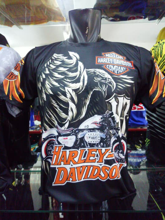 Jual Kaos import Harley Davidson HD full print code 2 - Kab  Bandung -  BikerStation | Tokopedia