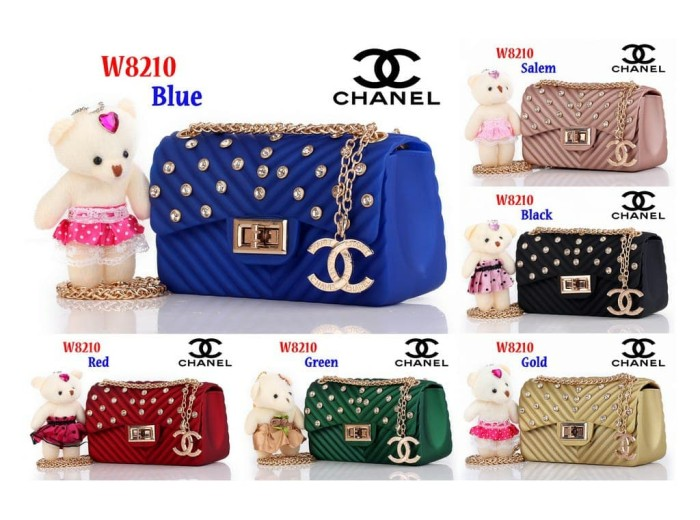 5950bd28749c Jual Tas Slempang Jelly Bag Chanel Classic W8210.BEST SELLER! - Biru ...