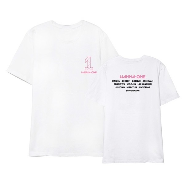Tumblr Tee / T-Shirt / Kaos Wanita Lengan Pendek Wanna One Putih