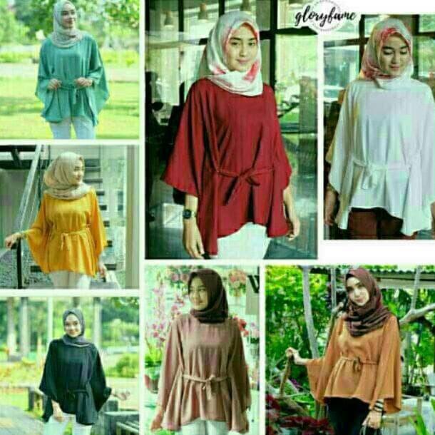 Baju Atasan Clove Blouse Tunik Baju Muslim Blus Muslim Blouse Wanita